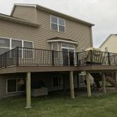 Azek Decking with Aluminum railing.